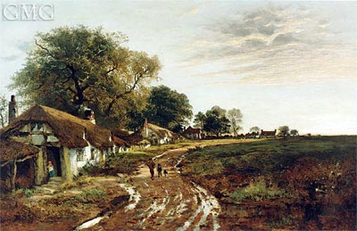 Sunshine After Rain, 1882 | Benjamin Williams Leader | Painting Reproduction