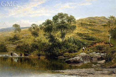 A Quiet Pool on the River Llugwy, Near Capel Curig, 1872 | Benjamin Williams Leader | Gemälde Reproduktion