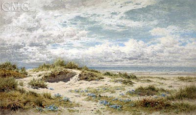A Sandy Shore on the South Coast, 1904 | Benjamin Williams Leader | Gemälde Reproduktion