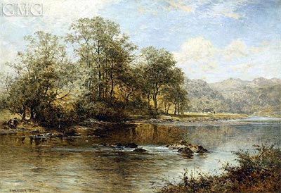 On the Llugwy, North Wales, 1896 | Benjamin Williams Leader | Painting Reproduction
