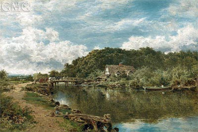 On the Stour near Flatford Mill, Suffolk, 1901 | Benjamin Williams Leader | Gemälde Reproduktion
