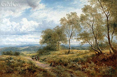 On the Welsh Border, 1874 | Benjamin Williams Leader | Painting Reproduction
