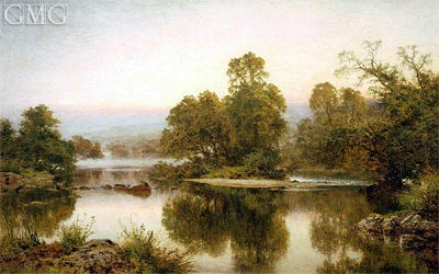 Summer Eve by Haunted Stream, 1899 | Benjamin Williams Leader | Painting Reproduction