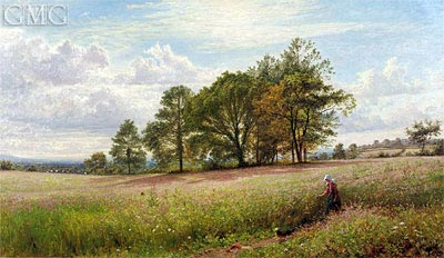Summer Time: Through the Hayfield, Worcestershire, 1866 | Benjamin Williams Leader | Gemälde Reproduktion