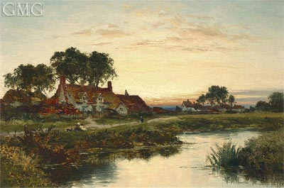 Benjamin Williams Leader | Worcestershire Cottages, 1897