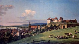 View of Pirna from the Sonnenstein Castle, c.1750/60 von Bernardo Bellotto | Gemälde-Reproduktion