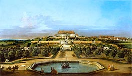 Hof Castle, Garden View, c.1758/61 by Bernardo Bellotto | Painting Reproduction