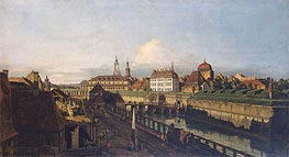 Old Fortifications of Dresden, c.1749/52 von Bernardo Bellotto | Gemälde-Reproduktion