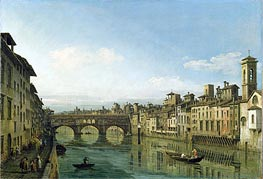 The Arno in Florence with the Ponte Vecchio | Bernardo Bellotto | outdated