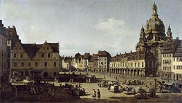 View of the New Market Place in Dresden from the Moritzstrasse | Bernardo Bellotto | outdated