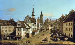 The Marketplace at Pirna, c.1764 von Bernardo Bellotto | Gemälde-Reproduktion