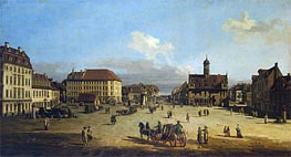 Market-Place of the Neustadt in Dresden | Bernardo Bellotto | Painting Reproduction