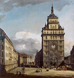 Square with the Kreuz Kirche in Dresden | Bernardo Bellotto | Painting Reproduction