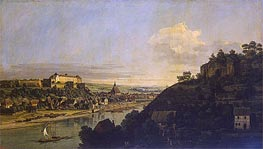 View of Pirna from the Right Bank of the Elba | Bernardo Bellotto | Painting Reproduction