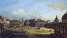 Zwinger in Dresden, 1752 by Bernardo Bellotto | Painting Reproduction