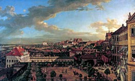 View of Warsaw from the Terrace of the Royal Castle, 1773 by Bernardo Bellotto | Painting Reproduction
