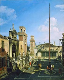 The Arsenal, Venice, c.1742 by Bernardo Bellotto | Painting Reproduction