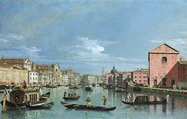 Venice: Upper Reaches of the Grand Canal Facing Santa Croce, c.1740/50 by Bernardo Bellotto | Painting Reproduction
