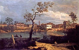 Country, Shore by the River, undated by Bernardo Bellotto | Painting Reproduction