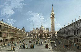The Piazza San Marco, Venice, undated by Bernardo Bellotto | Painting Reproduction