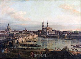 Dresden from the Neustädter Bridgehead, 1765 by Bernardo Bellotto | Painting Reproduction