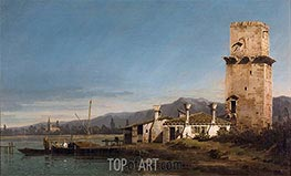 Capriccio with the Tower of Malghera, c.1743/44 by Bernardo Bellotto | Painting Reproduction