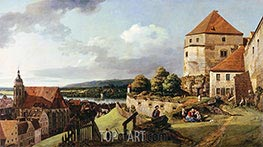 Sonnenstein Fortress above Pirna, c.1753/55 by Bernardo Bellotto | Painting Reproduction
