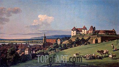 Bernardo Bellotto | View of Pirna from the Sonnenstein Castle, c.1750/60