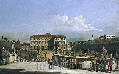 The Liechtenstein Garden Palace from the Garden Side, c.1759/60 | Bernardo Bellotto | Painting Reproduction