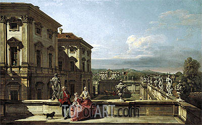 The Liechtenstein Garden Palace in Vienna Seen from the East, c.1759/60 | Bernardo Bellotto| Painting Reproduction