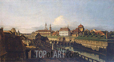 Old Fortifications of Dresden, c.1749/52 | Bernardo Bellotto| Painting Reproduction
