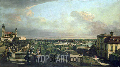 The Kaunitz Palace and Garden, Vienna, c.1759/60 | Bernardo Bellotto | Painting Reproduction