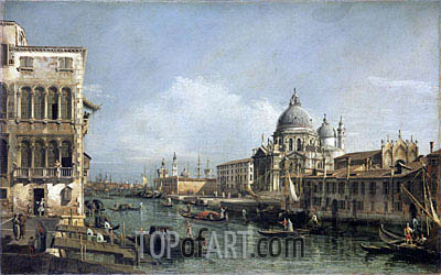 Entrance to the Grand Canal, Venice, undated | Bernardo Bellotto| Painting Reproduction