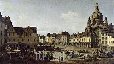 View of the New Market Place in Dresden from the Moritzstrasse, c.1749/51 | Bernardo Bellotto | Painting Reproduction