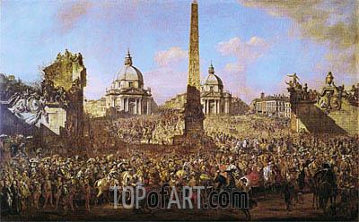 Bernardo Bellotto | Entry into Rome of Jerzy Ossolinski Emissary of Wladyslaw IV of Poland with Pope Urban VIII, 1779