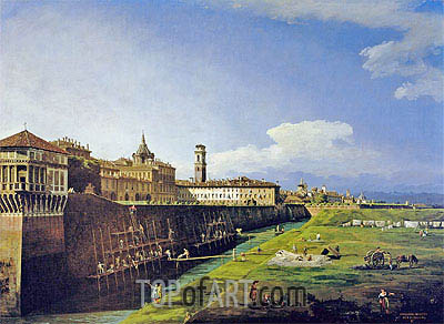 View of Turin from the Gardens of the Palazzo Reale, 1745 | Bernardo Bellotto | Gemälde Reproduktion