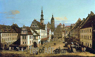 The Marketplace at Pirna, c.1764 | Bernardo Bellotto| Painting Reproduction