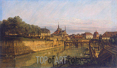 Moat of Zwinger in Dresden, c.1750/60 | Bernardo Bellotto| Painting Reproduction