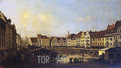 Old Market-Place in Dresden, c.1751/52 | Bernardo Bellotto | Painting Reproduction
