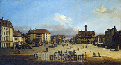 Market-Place of the Neustadt in Dresden, c.1751/52 | Bernardo Bellotto| Painting Reproduction