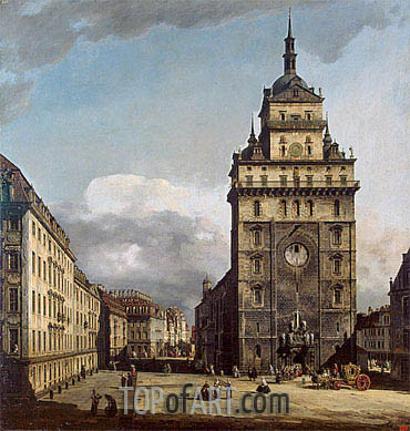Square with the Kreuz Kirche in Dresden, 1751 | Bernardo Bellotto| Painting Reproduction