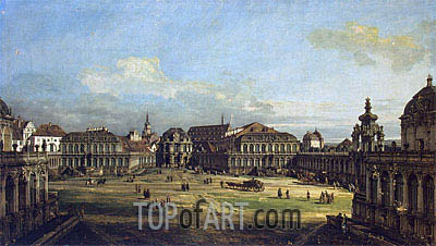 Zwinger in Dresden, 1752 | Bernardo Bellotto| Painting Reproduction