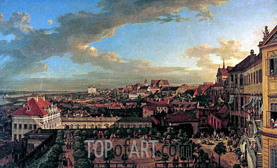 View of Warsaw from the Terrace of the Royal Castle, 1773 | Bernardo Bellotto | Painting Reproduction