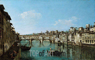 The Ponte Vecchio, Florence, undated | Bernardo Bellotto| Painting Reproduction