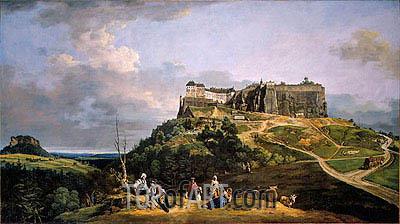 Bernardo Bellotto | The Fortress of Konigstein, c.1756/58