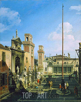 The Arsenal, Venice, 1748 | Bernardo Bellotto| Gemälde Reproduktion