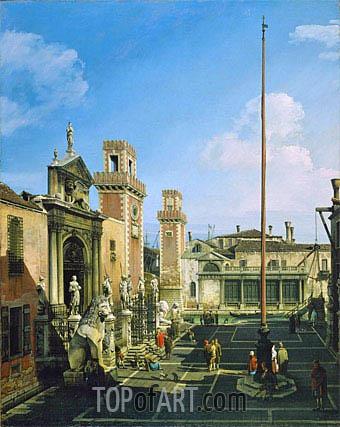 Bernardo Bellotto | The Arsenal, Venice, c.1742