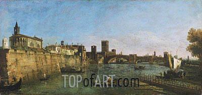 Bernardo Bellotto | View of Verona with the Castelvecchio and Ponte Scaligero, c.1745/46
