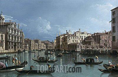 Bernardo Bellotto | The Grand Canal Looking North from the Palazzo Contarini dagli Scrigni to the Palazzo Rezzonico, undated
