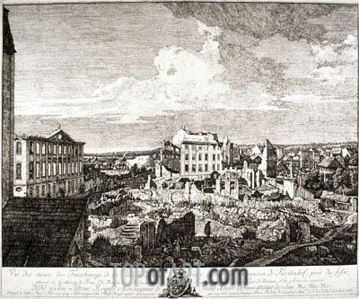 Bernardo Bellotto | View of the Ruins of the Suburbs of Dresden, 1766